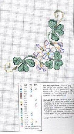 clover corner border cross stitch