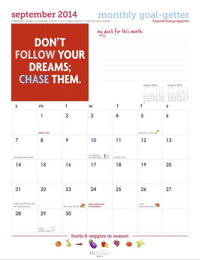 Calendar Year Goals Record : Best images about fit goals tools for the goal getter