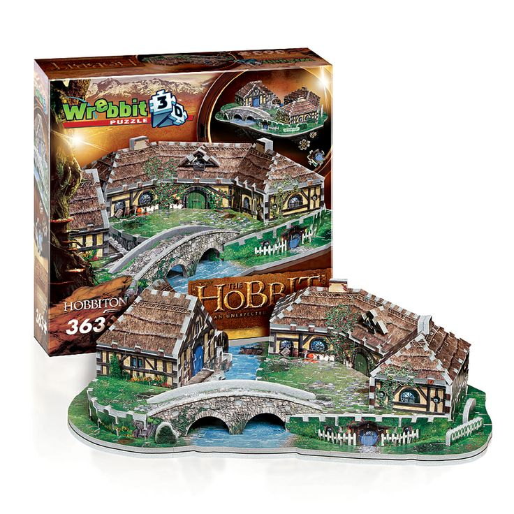 Hobbiton 3D Puzzle From Wrebbit 3D. Shire, Middle Earth
