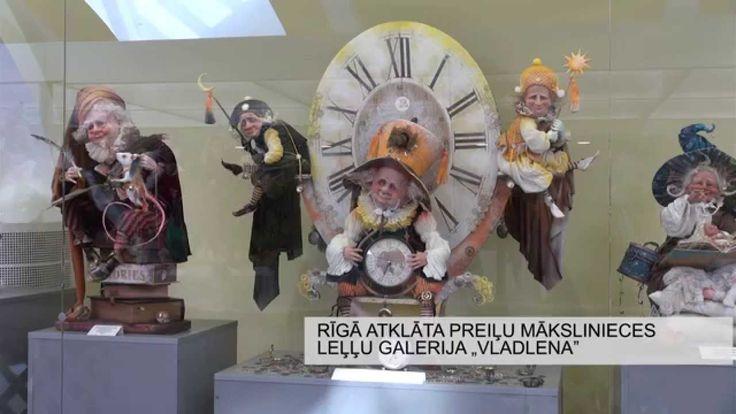 """Rīgā atklāta preiļu mākslinieces leļļu galerija """"Vladlena"""""""
