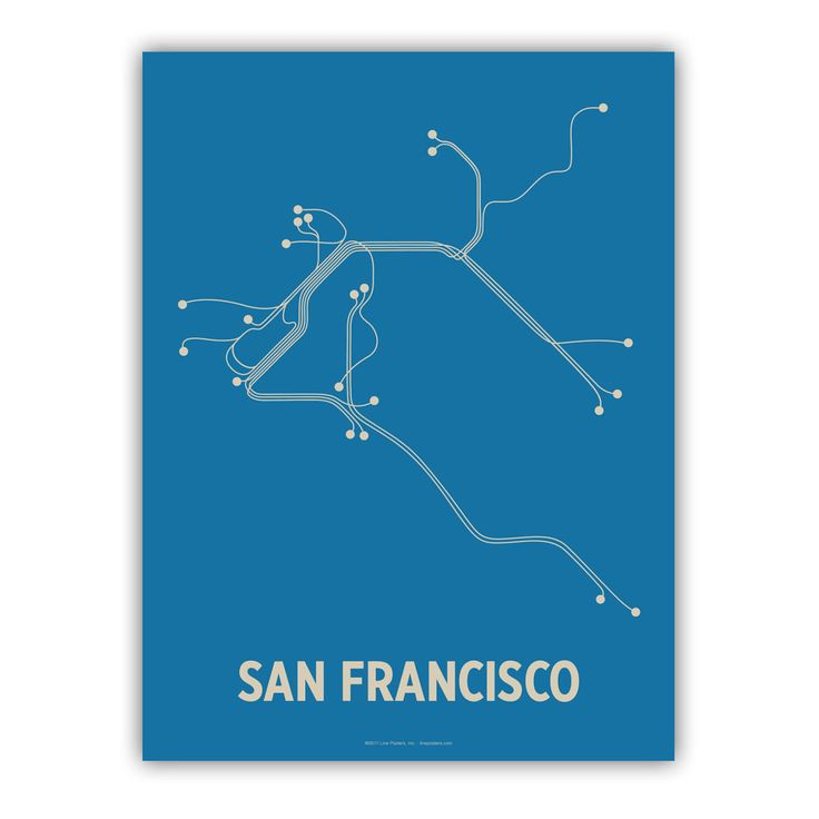 from Cayla and John: Minimalist Cities, Design Things, San Francisco, Cities Transitional, Graphics Design, Transitional Maps, San Francisco, Maps Poster, Fransico Linepost