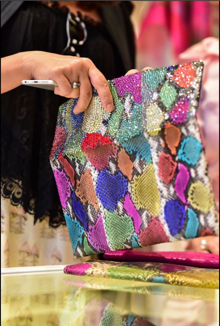 Colorful clutch from #Garin