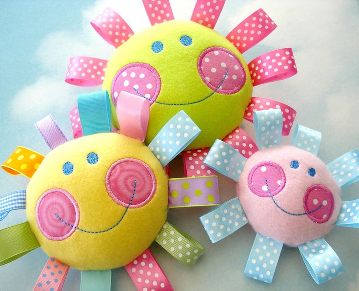 Embroidery Design for Machine Embroidery Happy Face Toy In-The-Hoop. $3.99, via Etsy.