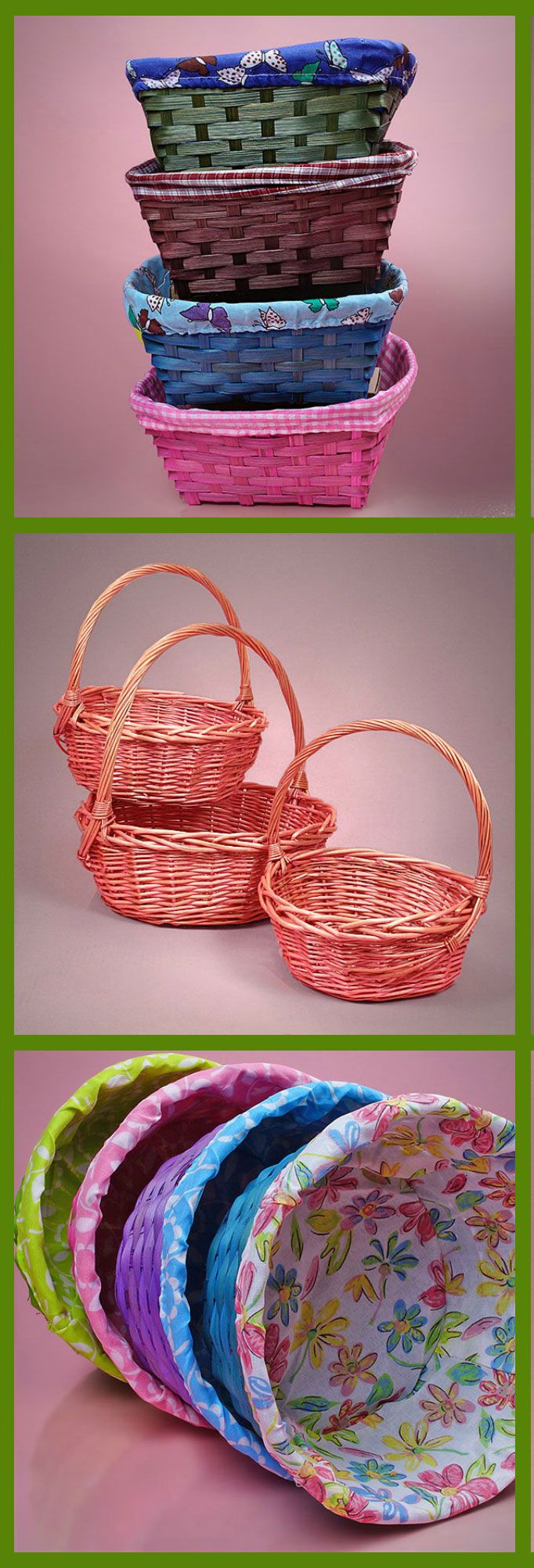 The 25 best easter gift baskets ideas on pinterest easter colorful and fabric lined easter baskets the easter bunny will be delivering all his goodies in style with these easter gift baskets negle Gallery