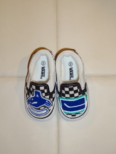 Custom baby vans with Vancouver Canucks logo