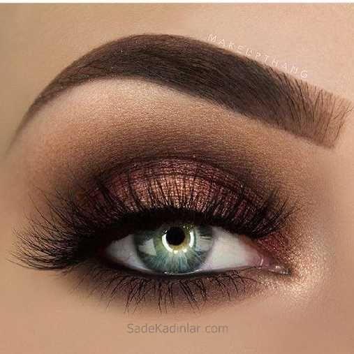 Augenbrauen-Modelle und Augen-Make-up-Beispiele für beeindruckende Looks   – Makyaj