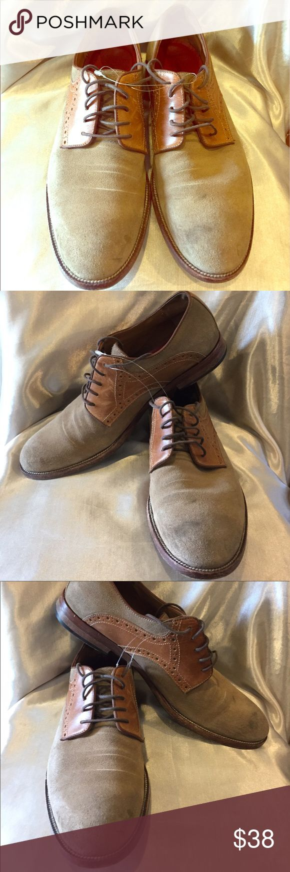 Johnson and Murphy tan and brown suede oxfords  Johnson and Murphy Tan And Brown Suede oxfords  size 10.5 need cleaning lots of life Johnston & Murphy Shoes Oxfords & Derbys