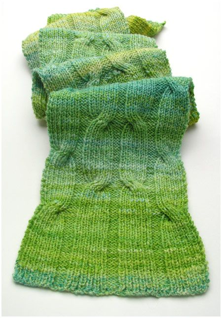 Criss-Cross Cable Scarf