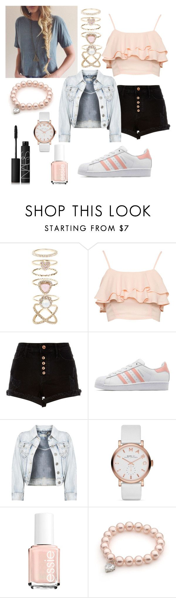 """Untitled #98"" by jessica21-07 ❤ liked on Polyvore featuring Accessorize, River Island, adidas Originals, Marc Jacobs, Essie and NARS Cosmetics"