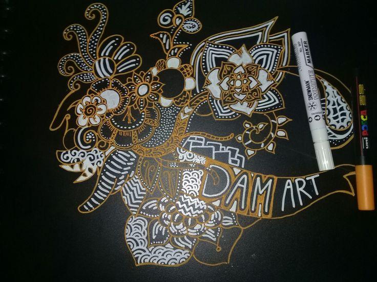 Zentangle doodle art batik