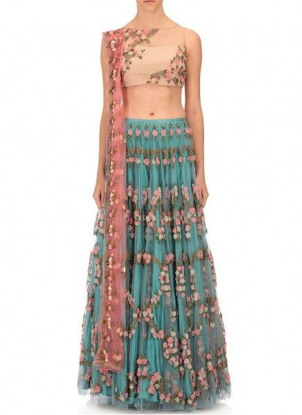 Orphic Art Silk Multi Colour Lehenga Choli