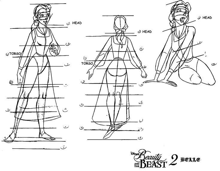 Disney Princess Character Design : Walt disney model sheets belle characters