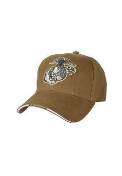 Coyote Brown U.S.M.C. Deluxe Low Profile Insignia Cap ! Buy Now at gorillasurplus.com