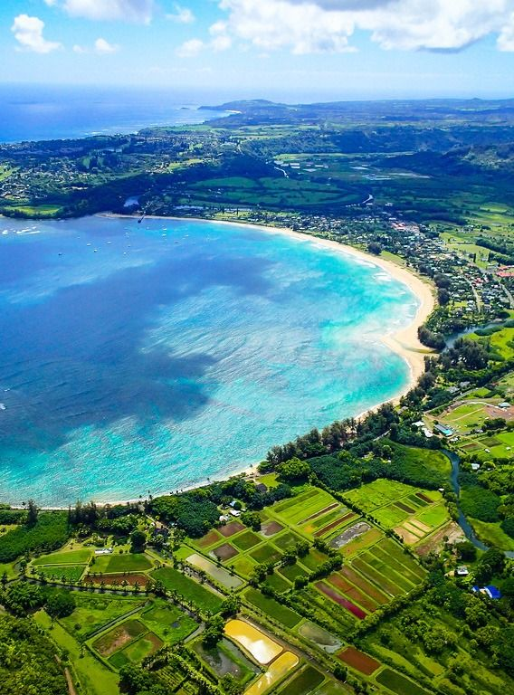 hanalei bay from above, Hawaii | Lugares Incriveis ...
