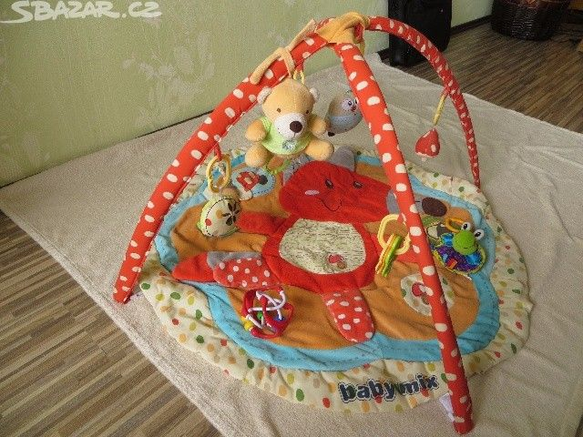Hrací deka s hrazdičkou Baby Mix - Liška - obrázek číslo 1