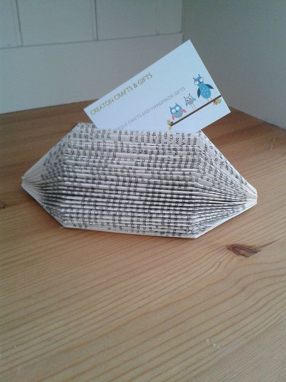 a beautiful book folded business card holder by 750