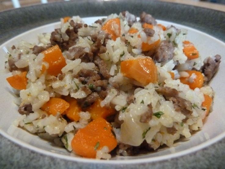 Great fall comfort food - Beef & Carrot Rice Recipe