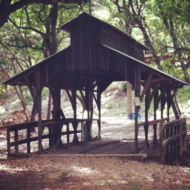 Old bridge near Blanco River in Wimberley, Texas