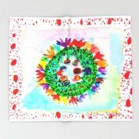 FLOWER CROWN Throw Blanket