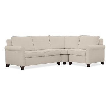 Cameron Roll Arm Upholstered Left Arm 3-Piece Wedge Sectional Polyester Wrapped Cushions  sc 1 st  Pinterest : cameron sectional - Sectionals, Sofas & Couches