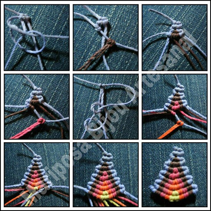 #Macrame Tutorial triangulo