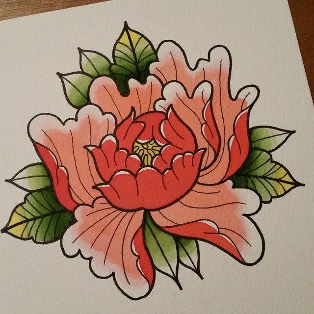 34 best Japanese Peony Flower Tattoo images on Pinterest ...