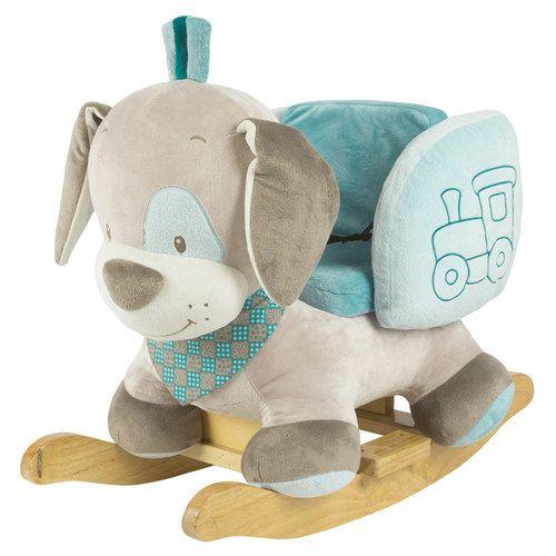 Nattou #Schaukeltier Cyril der Hund. kuschelig weicher Schaukel-Hund. #Spielzeug #jungs #blau
