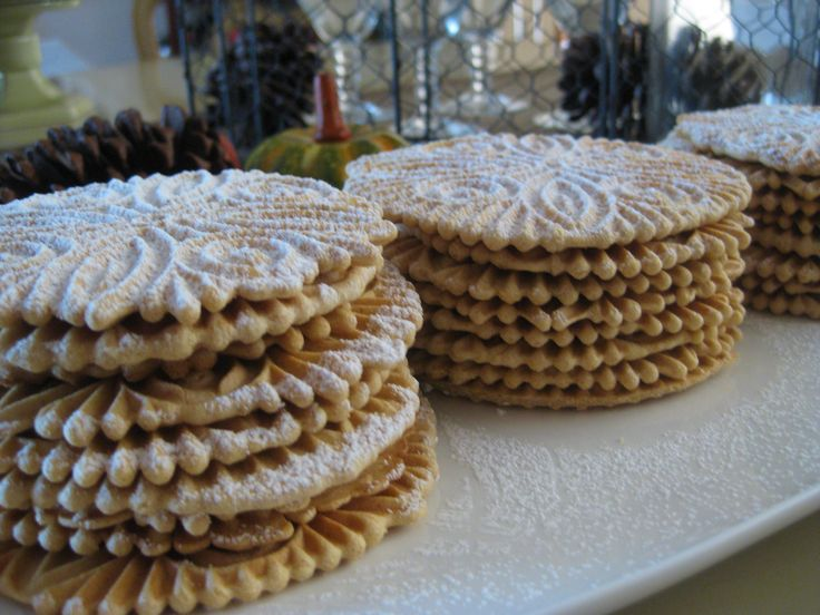 Gingerbread Pizzelles by Savoring Every Bite