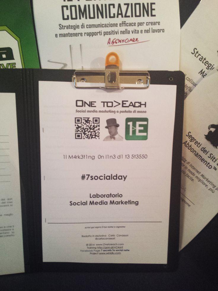 Manuali #7socialday Il #marketing on line di te stesso by @Carlo Cavassori #socialmediamarketing Domenica 2 Marzo
