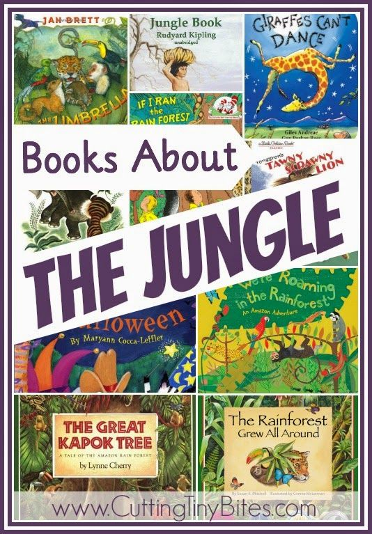 Children's book list of jungle books.  Reviews of each.  Choices for babies, toddlers, preschoolers, and elementary aged children.