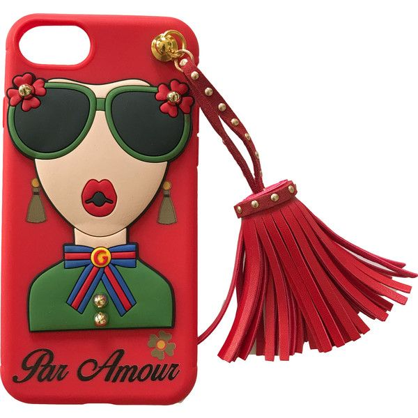 iPhone 7  Par Amour Red Case with Tassel (775 ARS) ❤ liked on Polyvore featuring accessories, tech accessories, fillers and phone