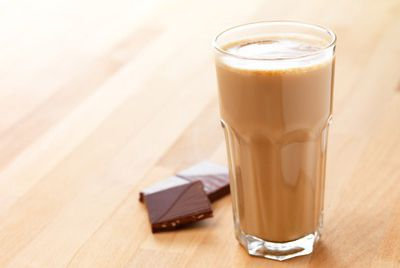 Chocolate milk.It is one of the drinks that has high calories. It's calories are even higher than a piece of cake.