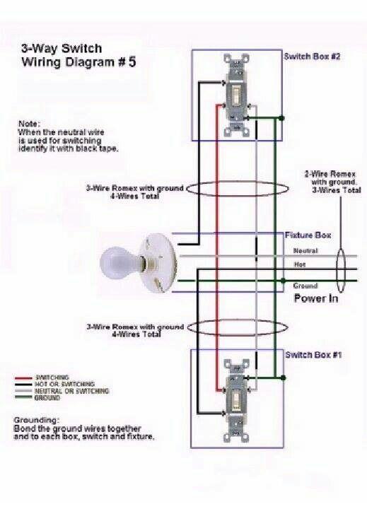 3 way switch hookup diagram