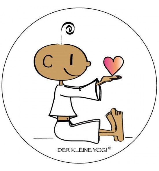 ❤ DER KLEINE YOGI – AUFKLEBER ❤ Jedes wunderschöne Motiv auf unseren Aufklebern wird mit 100% Liebe, Leidenschaft und Hingabe von Barbara Liera S…