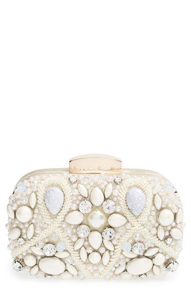 Natasha Couture 'Vintage Stone' Clutch available at #Nordstrom