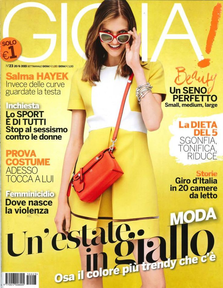 A Fendi PreFall15 look on the cover of Gioia