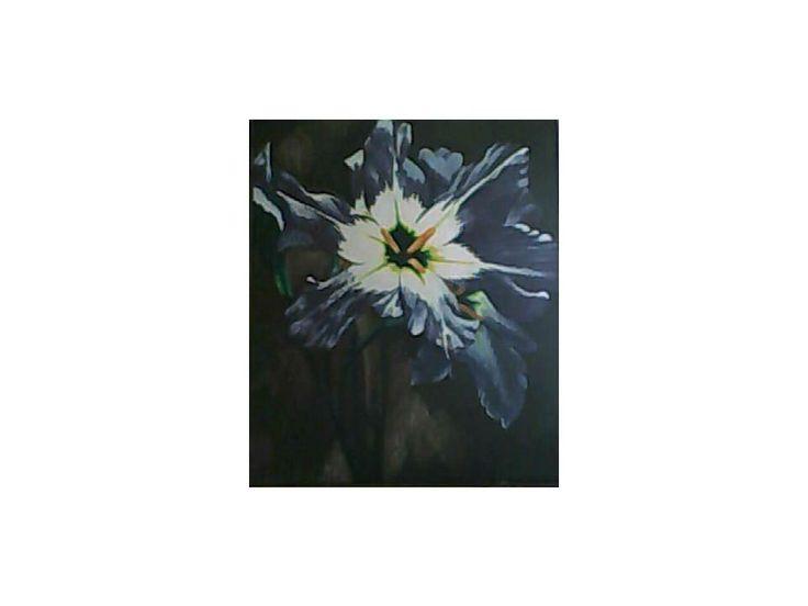 Flor Violeta 45 cm x 55 cm Oil on Canvas ( Óleo sobre Tela) www.artsaigg.com Sold Out - Vendida