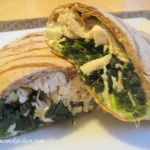 Skinny mom's kitchen: chicken in the grass wrap. Easy, will be making this again.