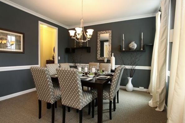 Cotton fabric dining room chair ideas with gray patterned | Decolover.net