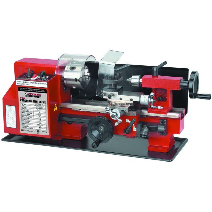 """Central-Machinery 93212 7"""" x 10"""" Precision Mini Lathe"""