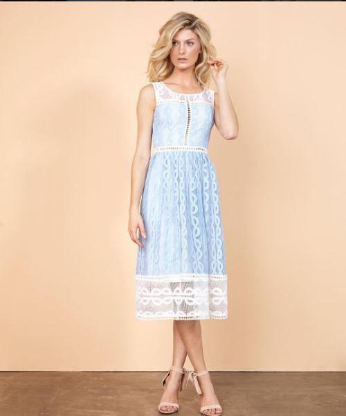 b29284e3eb6b vestido azul claro | Midi | Vestido festa midi, Vestido azul e Iorane