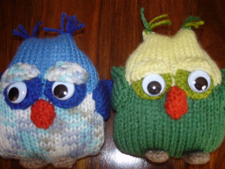 My hand knitted little owls. Available to buy from barginspls on eBay
