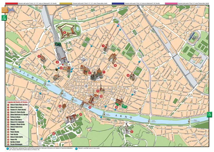 Florence Italy Map | High-resolution large map of Florence - download for print out