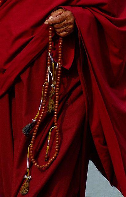 Tibetan Monk with Bodhiseed #Mala. Photo ©copyright Garuda Trading