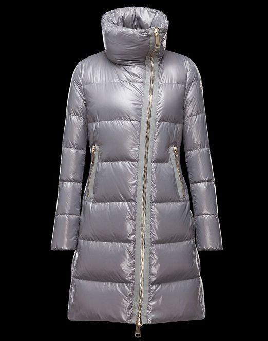 magasin Manteau Moncler JOINVILLE veste longue femme imperméable col gri Haute Qualité
