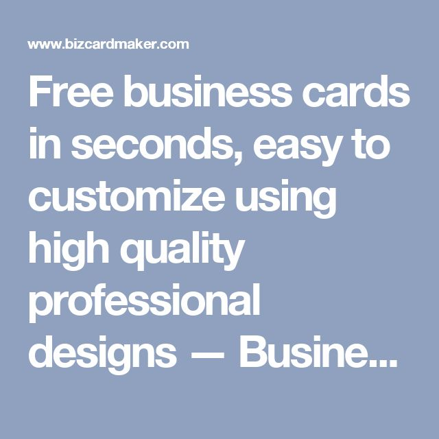 Free business cards in seconds, easy to customize using high quality professional designs — Business Card Maker