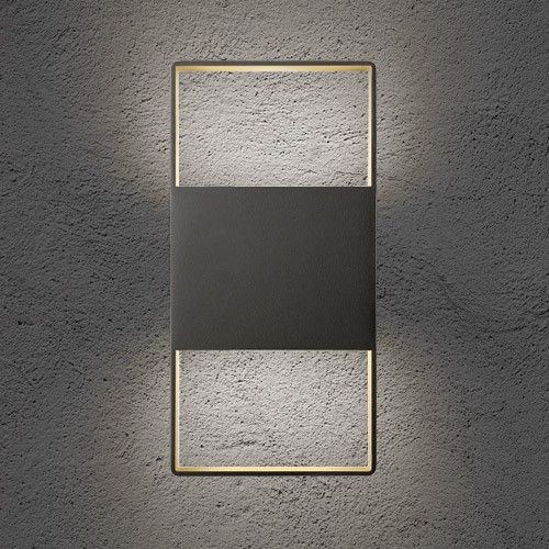 Light Frames 14 Inch Up Down Outdoor LED Wall Sconce