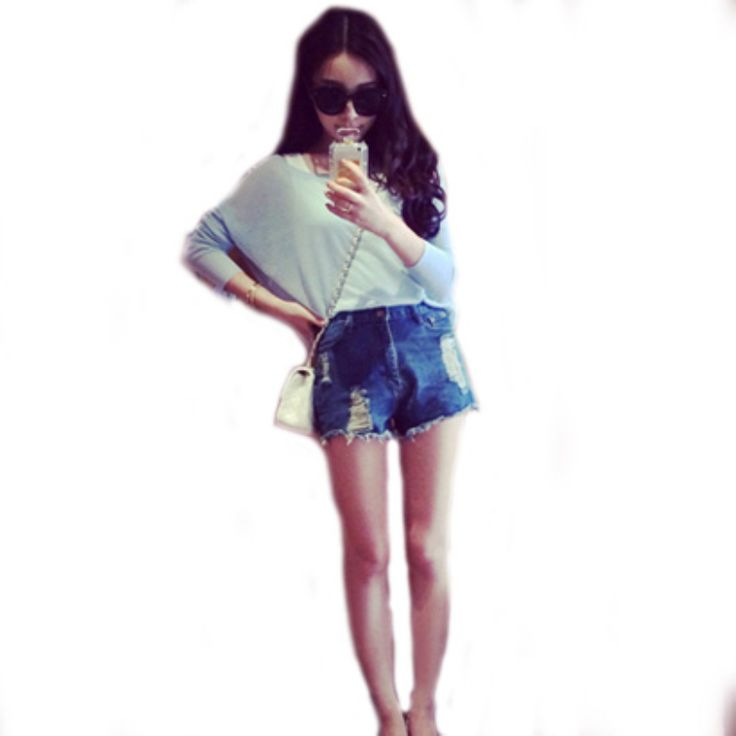 Find More Jeans Information about New 2016 Summer Style Hole Punk Rock Fashion High Waisted Denim Shorts Vintage Ripped Short Jeans Sexy Womens Short ,High Quality shorts pyjamas,China shorts leg Suppliers, Cheap jean tote from Comme t'y es belle! on Aliexpress.com