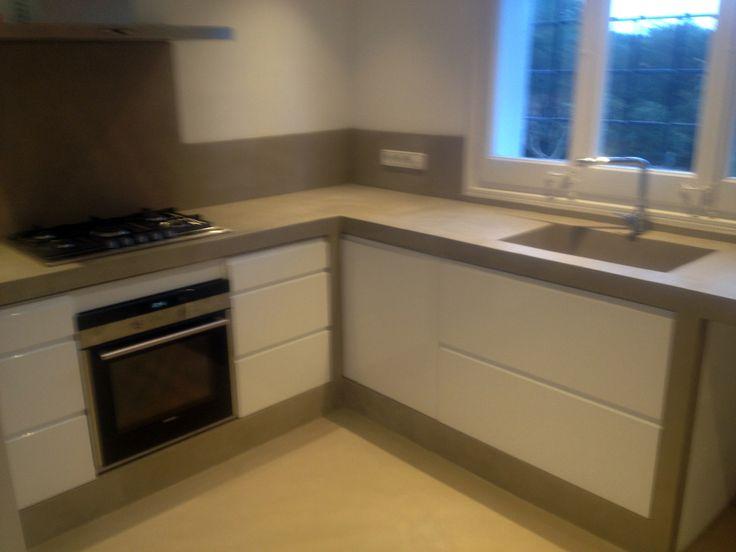 Cocina cemento pulido casita pinterest for Cocinas de concreto pequenas
