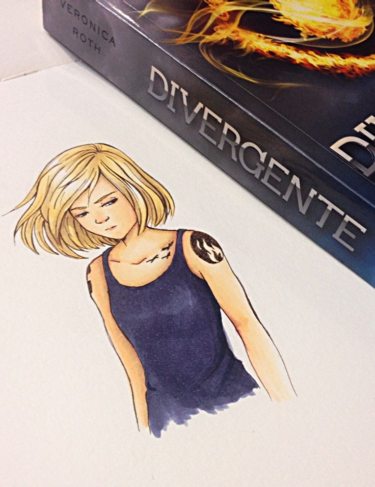 divergentofficial:We had to reblog this awesome Tris fan art, as well as its Spanish Divergente companion!